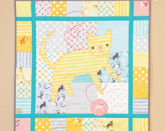 Kitty Blankey Quilt INSTANT DOWNLOAD PDF Sewing Pattern