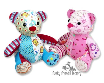 image relating to Memory Bear Sewing Pattern Free Printable identify Teddy undergo practice Etsy