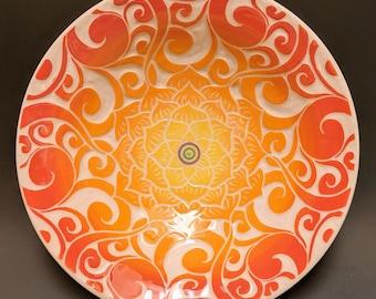 Lotus Mandala - 9.5 inch flared bowl