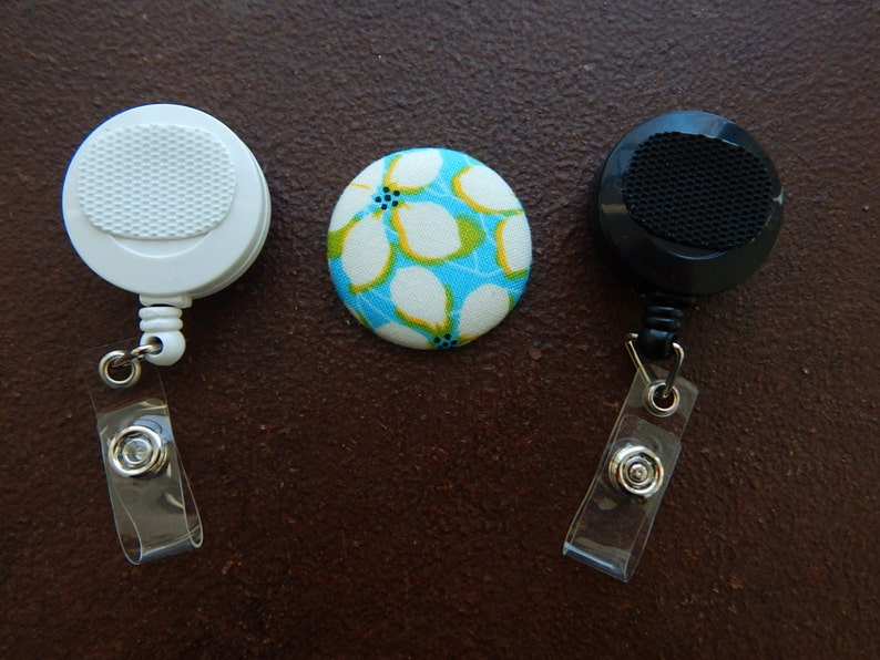 Football fabric Retractable Badge Reel with Swivel or Belt Clip