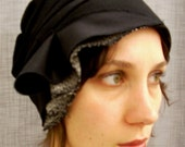 wool cloche - black