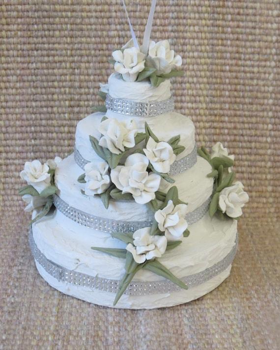 Christmas Ornament Wedding Cake Gift For Newlyweds Etsy