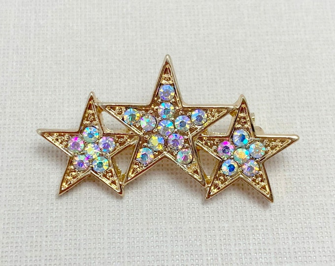 Aurora Borealis Star Brooch Pin