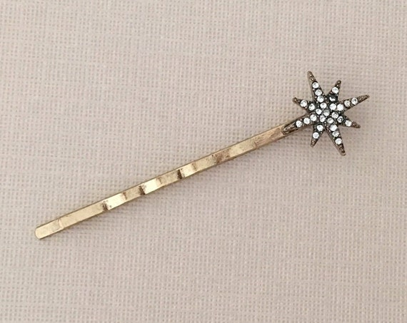 Gold Starburst Bobby Pin