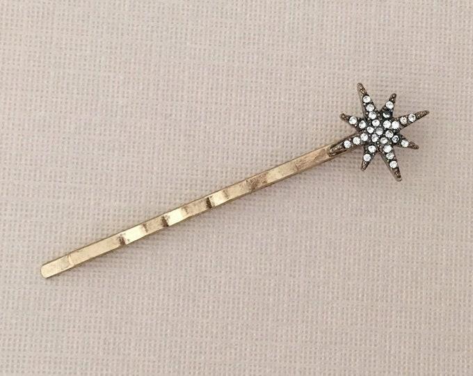 Gold Starburst Bobby Pin