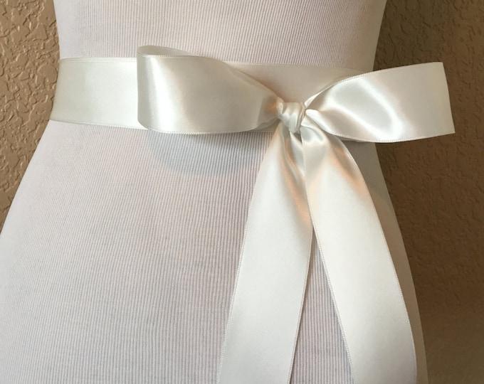 Ivory Bridal Ribbon Sash
