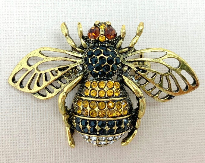 Antique Gold Bee Brooch Pin