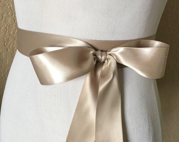 Taupe Ribbon Bridal Sash