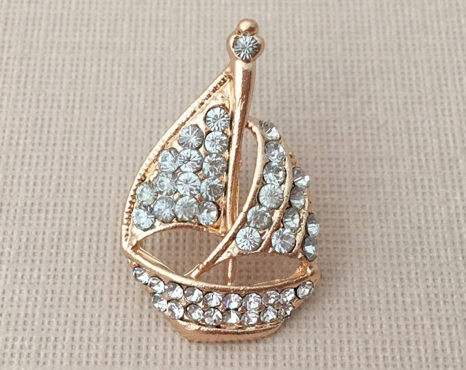 Gold Sailboat Lapel Pin