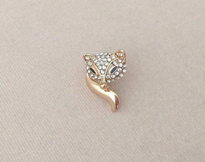 Gold Fox Lapel Pin