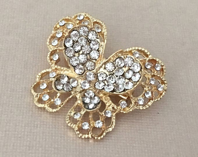 Small Gold Butterfly Brooch Pin