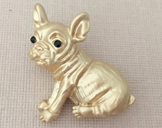 French Bulldog Brooch.French Bulldog Pin.Gold French Bulldog.French Bulldog Broach.Dog Lovers brooch.French Bulldog Puppy Brooch.Small