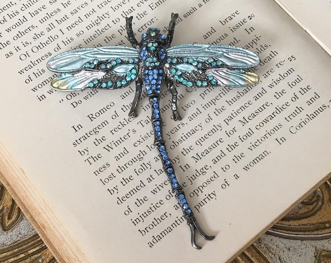 Blue Dragonfly Brooch Pin & Pendant