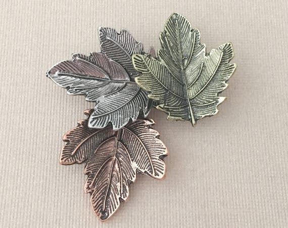 Falling Leaves Brooch.Autumn Leaves Brooch.Leaf Brooch.Leaf pin.Autumn Leaf Brooch.Fall Leaf Brooch.Maple Leaf Brooch.Sycamore Leaf Brooch