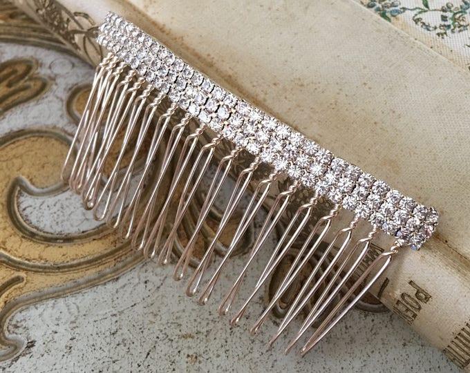 Gold Rhinestone Hair Comb.Gold Bridal Hair Piece.Gold Hair Comb.Gold Crystal Hair Comb.Wedding headpiece.Art Deco Style.Vintage Style