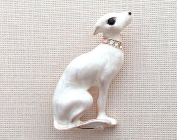 Enamel Dog Brooch Pin