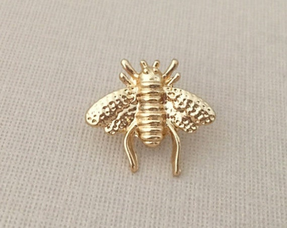 Gold Bee Lapel Pin