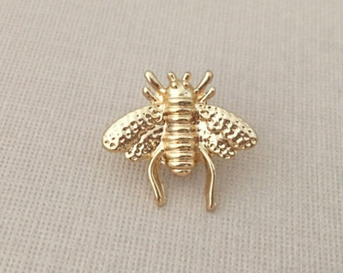 Gold Bee Lapel Pin