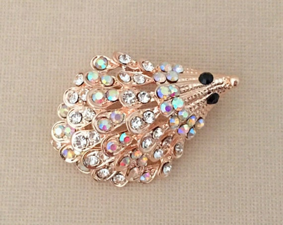 Rose Gold Hedgehog Brooch Pin