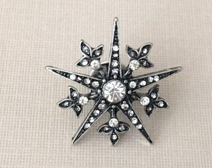 Starburst Rhinestone Lapel Pin