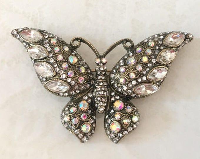 Aurora Borealis Butterfly Brooch Pin