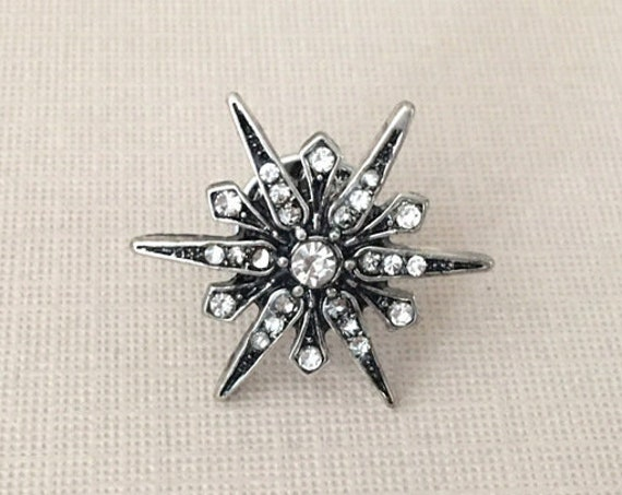 Antique Silver Starburst Lapel Pin