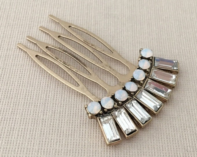 Antique Gold Art Deco Style Hair Comb