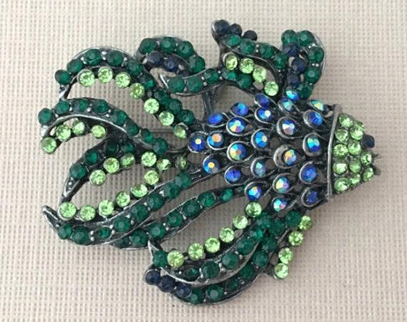 Blue & Green Fish Pendant