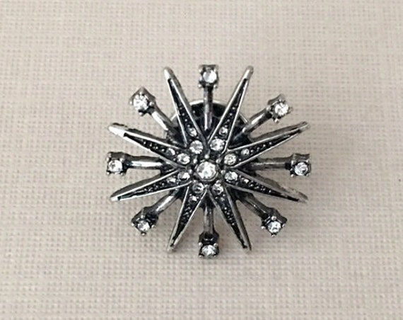 Small Silver Starburst Lapel Pin