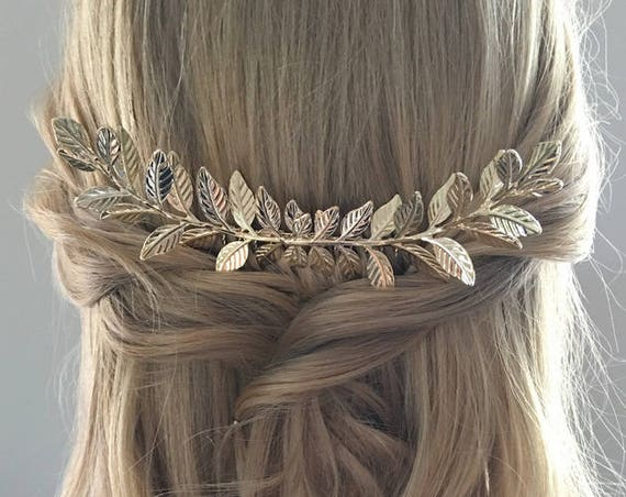 Gold Branch Hair Comb