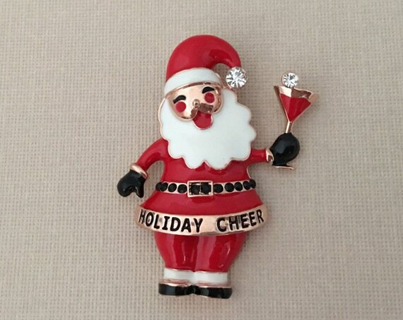 Drunk Santa Claus Brooch Pin