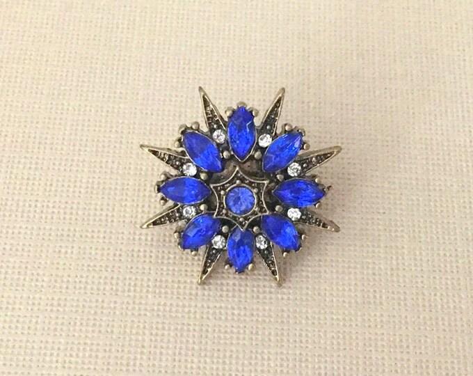 Royal Blue Starburst Lapel Pin or Tie Tack