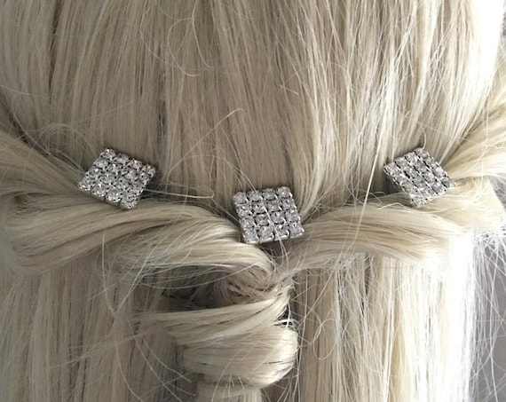 Art Deco Style Hair Pin Set. Set of 3.