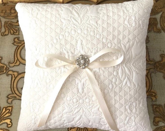 Ivory French Style Ring Bearer Pillow