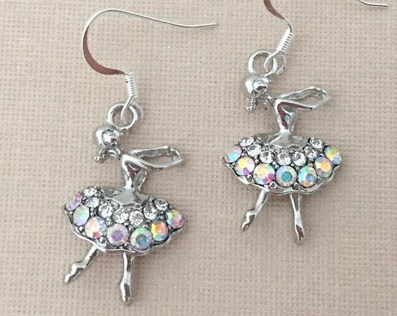 Rhinestone Ballerina Earrings