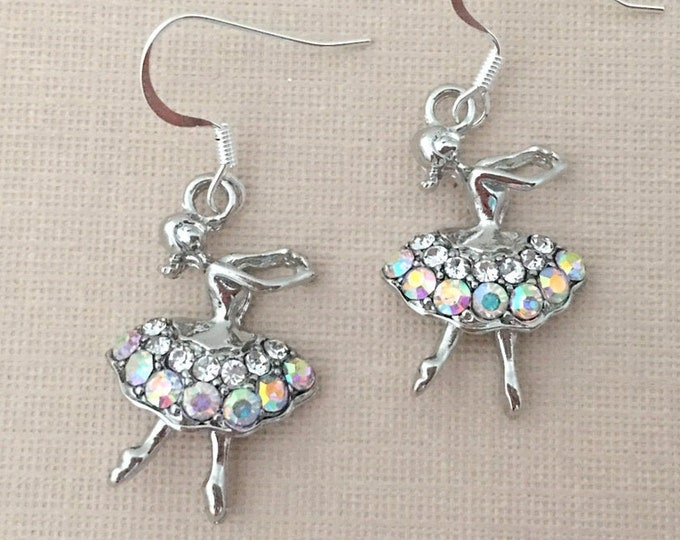 Rhinestone Ballerina Earrings