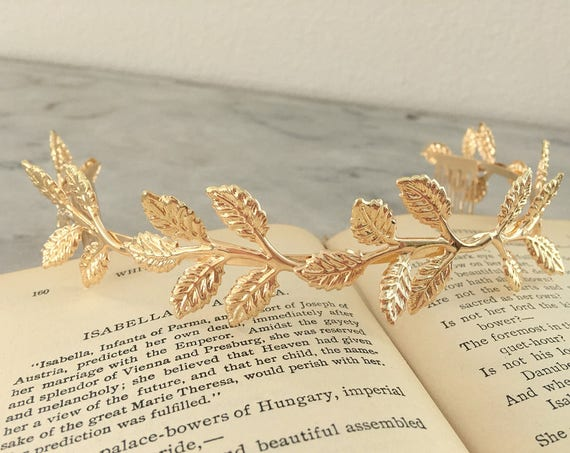 Gold Leaf Tiara Crown