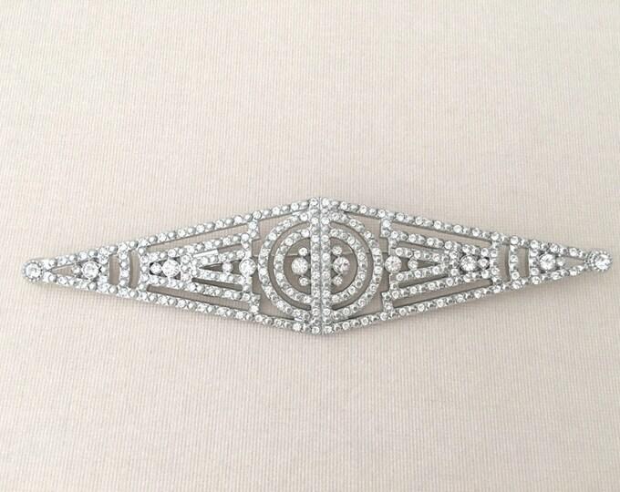 Art Deco Style Rhinestone Brooch Pin