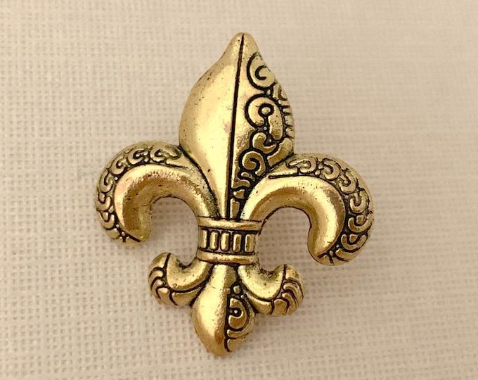 Gold Fleur de Lis Lapel Pin