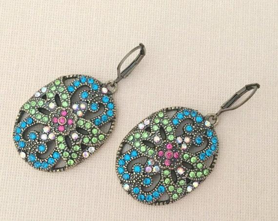 Colorful Bohemian Dangle Earrings