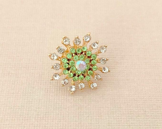 Green Starburst Lapel Pin