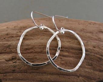 Handmade Organic Sterling Earrings
