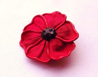 Flanders Poppy brooch - small