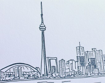Toronto - eight letterpress note cards