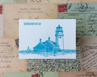 Cape Cod - five letterpress postcards