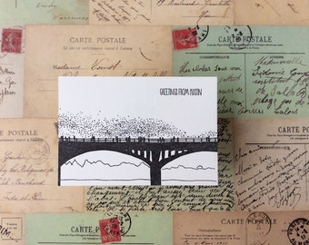 Austin - five letterpress postcards