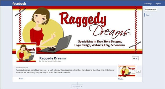 Facebook Timeline Cover Matching Profile Photo Profile Etsy