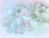 Vintage Embellished Perfume Bottle, Romantic Cottage Chic Perfume Bottle, Bridal Gift, Pink Rose