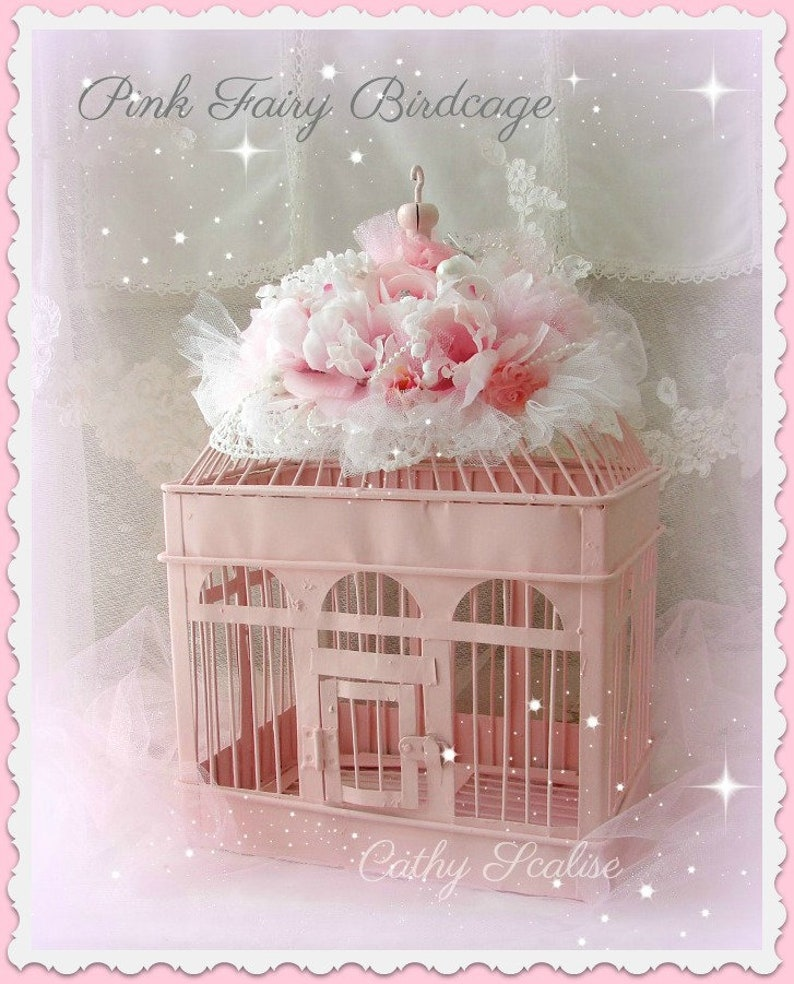 Shabby Cottage Chic Pink Rose Victorian Ballerina Dress Form Christmas Ornament