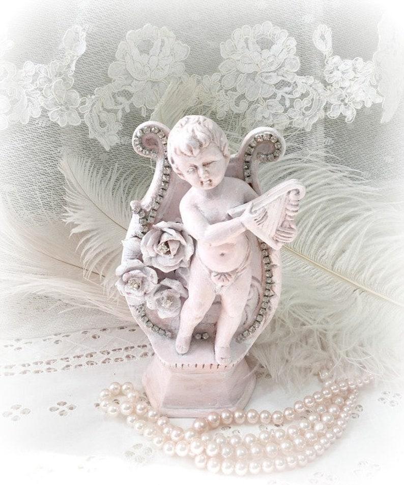 White and Gold Angel Chrub Wall Hanging Vase Home Wedding Party Decor
